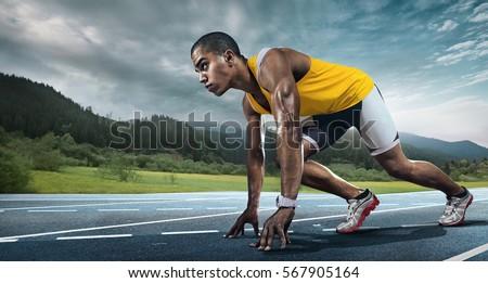 Sport. Runner on the start. #567905164