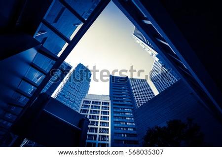 Modern architecture monochrome tone #568035307