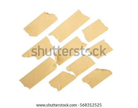 Brown Masking Tape on isolated white background #568312525
