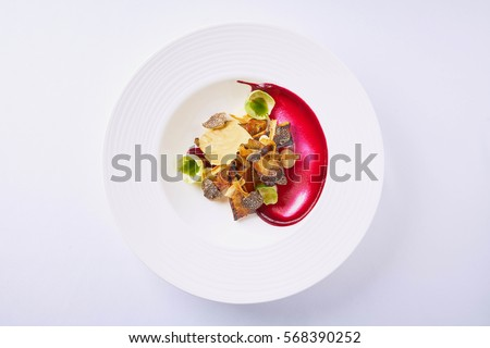 Beautiful and tasty vegetarian food on a plate Royalty-Free Stock Photo #568390252