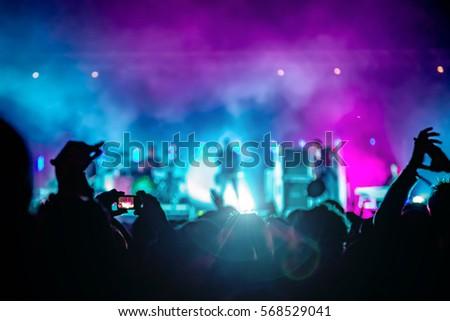 People enjoying the concert Royalty-Free Stock Photo #568529041
