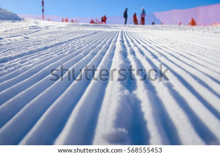 A ski track set in the Callaghan Valley - sport active photo with space for your montage - Illustration picture for winter olympic game in pyeongchang 2018
