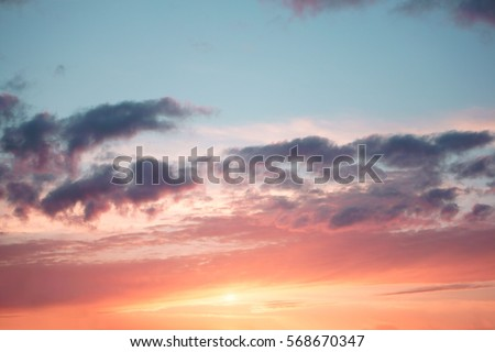 Colorful sky in the sunset. Amazing sunset. #568670347