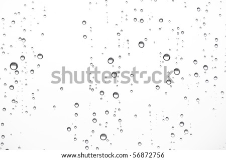 Water drops on glass #56872756