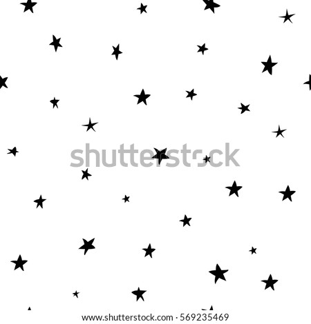 Modern Geometric Star Pattern. Vector Star Pattern Background