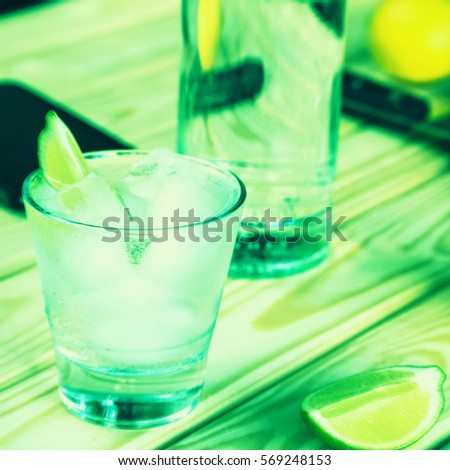 Mojito, St. Patrick's Day, green background. #569248153