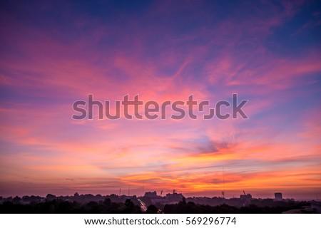 Twilight sky Royalty-Free Stock Photo #569296774