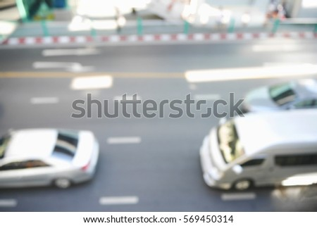 Picture blurred  for background abstract and can be illustration to article of traffic #569450314