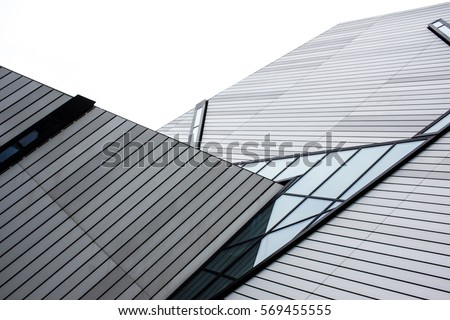 modern roof with angular architectural design #569455555