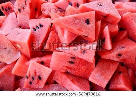Red watermelon, watermelon slice, fresh fruit #569470816