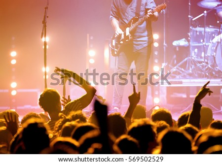 Crowd in a concert. Royalty-Free Stock Photo #569502529