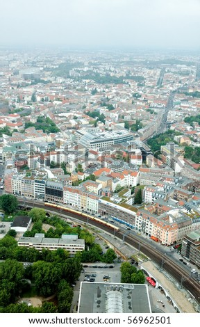 aerial view of central Berlin from the top of TY tower #56962501