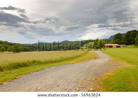French countryside: beautiful landscape in Pyrenees #56963824