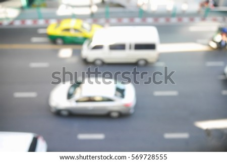 Picture blurred  for background abstract and can be illustration to article of traffic #569728555