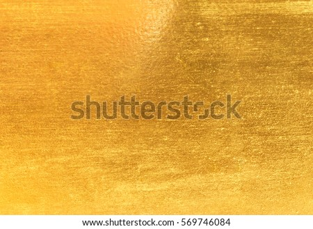Shiny yellow leaf gold foil texture background #569746084