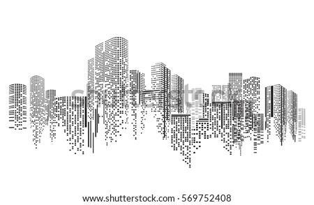 City scene on night time Royalty-Free Stock Photo #569752408