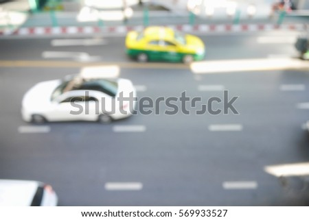 Picture blurred  for background abstract and can be illustration to article of traffic #569933527