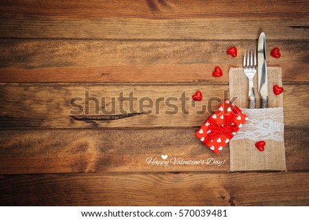 Gift and text happy valentines day  #570039481