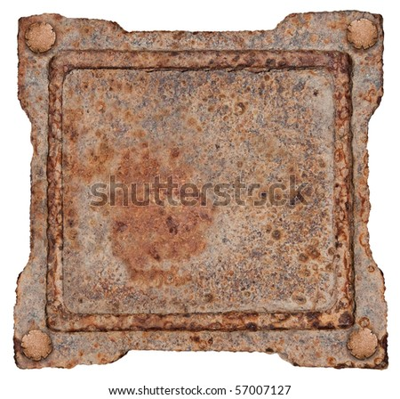 Old Metal Frame, isolated on white background. #57007127