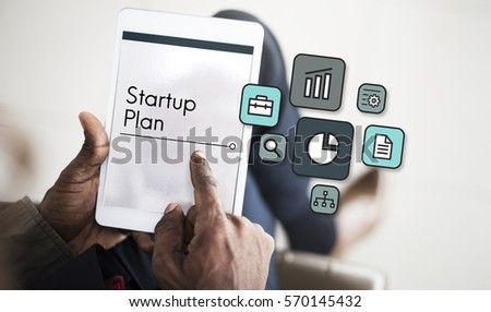 Planning Strategy Marketing Startup Icon #570145432