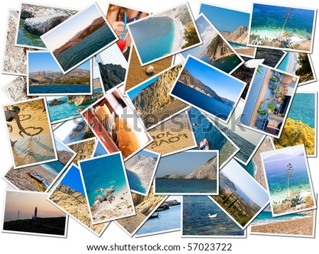 Sea holiday postcards