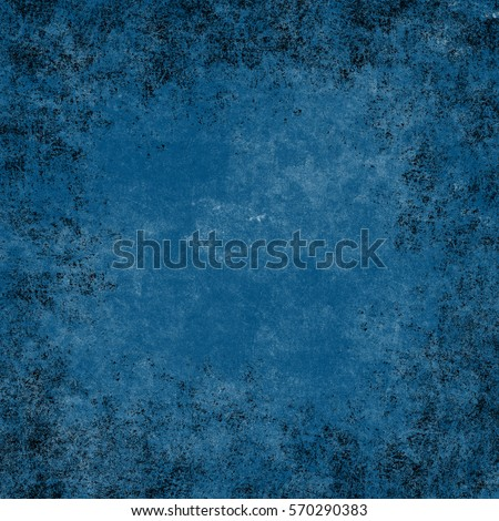 Blue designed grunge texture. Vintage background with space for text or image #570290383