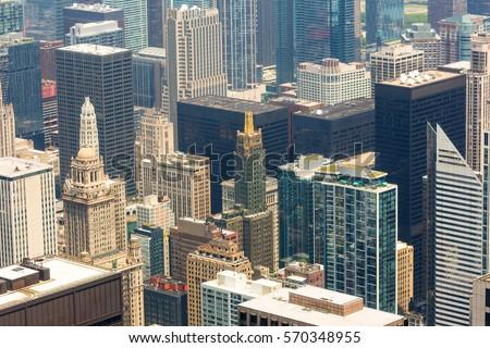 Chicago downtown closeup