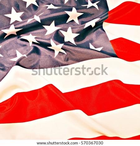 Closeup of American flag #570367030