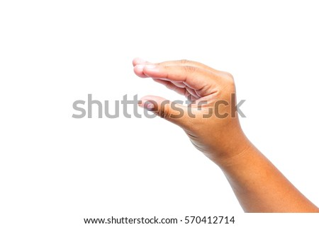 Sign language - Hand sign language  by asian young female hand. #570412714