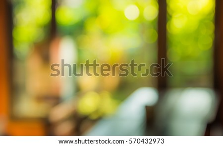 image of Abstract blur hotel lobby for background usage. #570432973