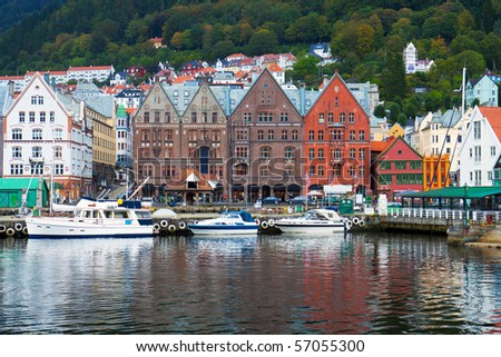 Cityscape of Bergen, Norway #57055300