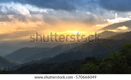 View at Doi Mae Ta Man ,Chiang Mai ,Thailand #570666049
