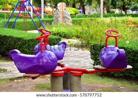 Children's playground at park #570797752