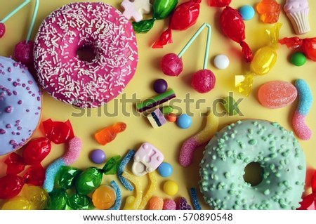 Colored sweets #570890548