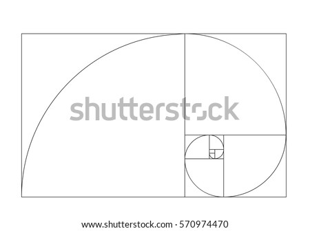 golden ratio template vector  Royalty-Free Stock Photo #570974470