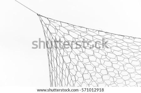 Closeup of soccer goal net.