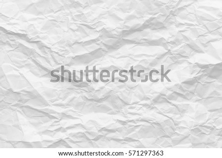 White Texture Background. Crumpled paper. Royalty-Free Stock Photo #571297363