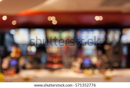 blurred background of people inside fast food restaurants #571352776