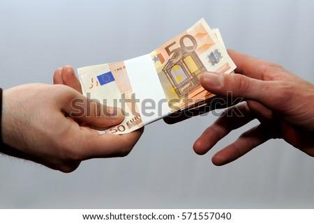 Euros - Money - euro cash background. Euro Money Banknotes - tangent policy #571557040