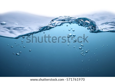 BLUE WATER WAVE Royalty-Free Stock Photo #571761970