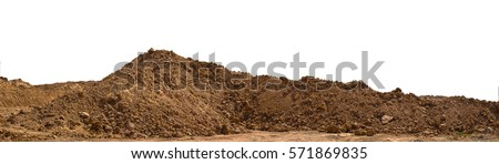 pile Soil or dirt isolated on white background Royalty-Free Stock Photo #571869835