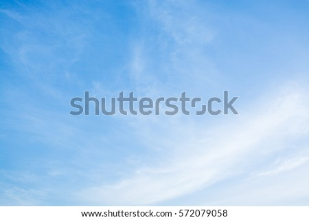 sky backgrounds , cloudy sky ,Cumulus white clouds in the blue sky at sunset #572079058