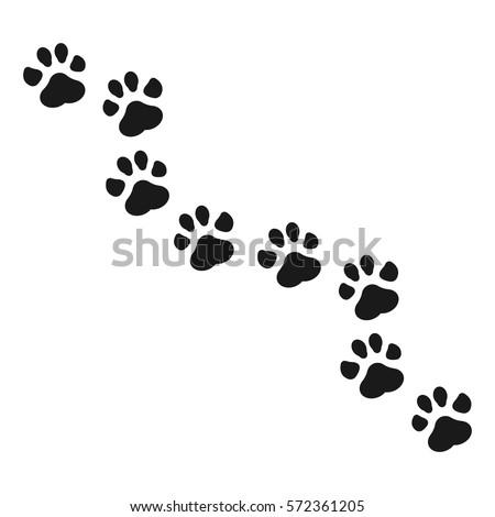 Paw Print vector illustration.