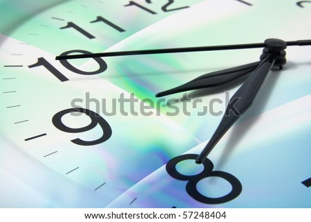 Clock Face with Digital Background #57248404