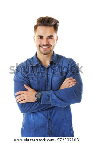 Handsome man on white background #572592103