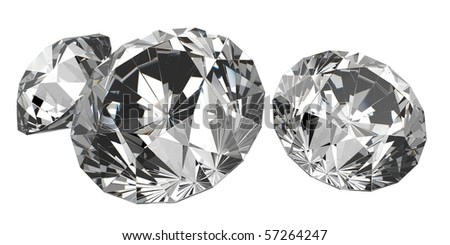 isolated beautiful diamonds (big collection) #57264247