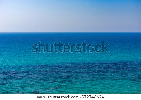 The blue sea of the whole picture.