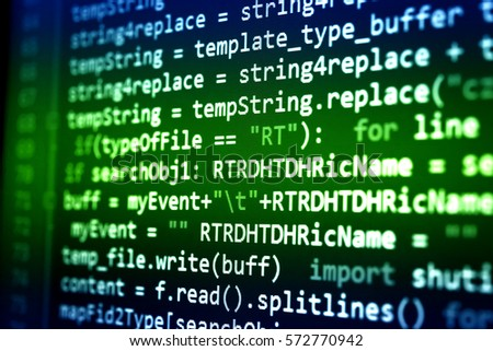 Software developing with programming code by programmer with the new technology.   #572770942