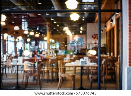 Abstract blurred restaurant - vintage style picture.
