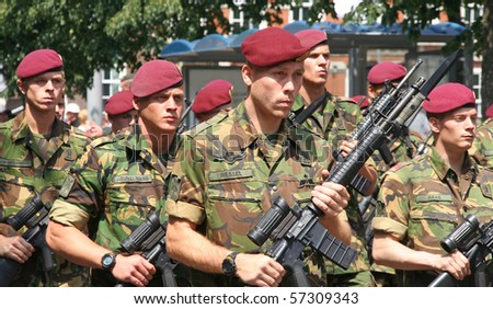 THE HAGUE, HOLLAND - JUNE 26: Veterans of UN Peace Missions in the annual parade on Veterans Day on June 26, 2010 in The Hague, Holland. #57309343